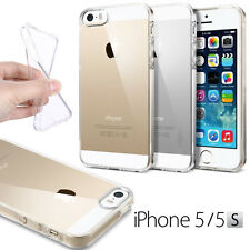 COQUE HOUSSE ETUI SILICON GEL TPU TRANSPARENTE IPHONE 5 & 5S + FILM AVANT OFFERT