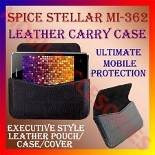 ACM-HORIZONTAL LEATHER CARRY CASE for SPICE STELLAR MI-362 MOBILE POUCH COVER