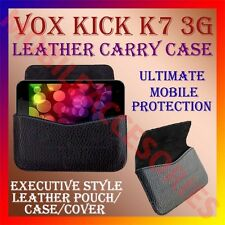 ACM-HORIZONTAL LEATHER CARRY CASE for VOX KICK K7 V 3G MOBILE POUCH COVER HOLDER