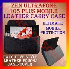 ACM-HORIZONTAL LEATHER CARRY CASE for ZEN ULTRAFONE 105 PLUS MOBILE POUCH COVER
