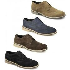 Roamers Mens Suede Leather 5 Eyelet Lace Up Brogue Smart Casual Desert Shoes New