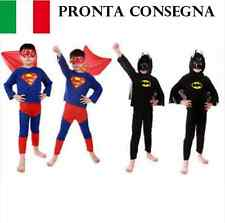 COSTUMI BATMAN O SUPERMAN SUPER EROE UOMO PIPISTRELLO FILM CARTONI COSPLAY MAN