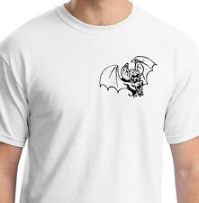 EVIL ONE EYED BAT WITH BRAINS PSYCHOBILLY WHITE T SHIRT ANIMAL GIFT BIRTHDAY