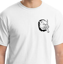 EVIL BIKER TRIBAL HOG WHITE T SHIRT ANIMAL GIFT BIRTHDAY