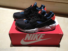 NIKE AIR HUARACHE BLACK ORANGE BLUE SIZES 4, 5, 6, 7 LIMITED EDITION NEW *LOOK*