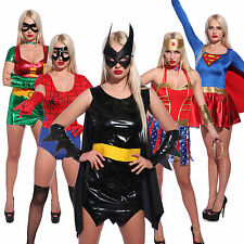 Sexy Halloween Cosplay Costume Vestito Carnevale Donna Superhero Bat Spider