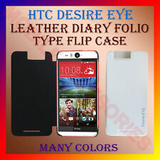 ACM-LEATHER DIARY FOLIO FLIP CASE for HTC DESIRE EYE MOBILE FRONT & BACK COVER