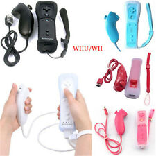 Hot 2 in 1 Built in Motion Plus Remote + Nunchuck Controller For Nintendo Wii
