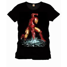 T-SHIRT IRON MAN FIST TShirt Marvel Iron Man Fist Black 100% ORIGINALE