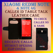 ACM-CALLER ID TABLE TALK CASE for XIAOMI REDMI NOTE & NOTE 4G  FLAP FLIP COVER