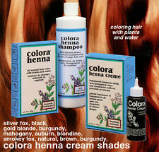 """COLORA HENNA CREME """"ORGANIC"""" HAIR COLOR CONDITIONER & THICKENER"""