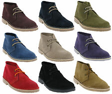 Roamers Desert 2 Eye Suede Leather Womens Unisex Classic Lace Up Boots UK  3-8 234139fe0
