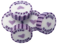 Lilac & Purple BRIDE and GROOM Wedding Favour Rock Sweet Summer Fruits Flavour