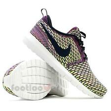 Scarpe Nike Flyknit Rosherun 677243 400 Moda Uomo Ultralight Sneakers Neon IT