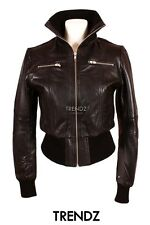 Ladies LOPEZ (8122) Black Biker Style Real Lambskin Leather Designer Jacket