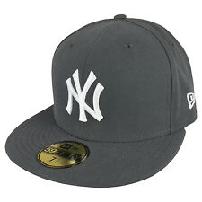 New Era 59FIFTY New York Yankees Cap Graphite White
