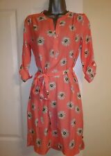 NEW Dorothy Perkins K&D Coral Pink Floral Sunflower Print Tunic Shirt Dress