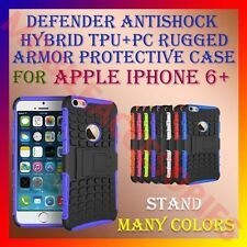 ACM-DEFENDER ANTISHOCK HYBRID TPU+PC RUGGED ARMOR CASE STAND APPLE IPHONE 6+PLUS