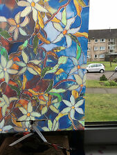Premium Style PAINTED Stained Glass Decorative Vinyl Privacy Static Window Film
