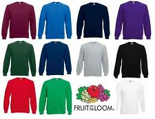 Fruit of the Loom Mens Raglan Fleece Sweatshirt Sweater Jumper