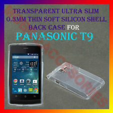 ACM-ULTRA SLIM 0.3MM FULL TRANSPARENT SILICON for PANASONIC T9 BACK COVER CASE