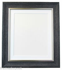 Vintage Charcoal Grey Photo Frame with Mounts in Various Colours 46x20mm AP4620