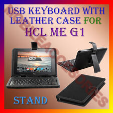 """ACM-USB KEYBOARD 10"""" CASE for HCL ME G1 TABLET LEATHER COVER STAND HOLDER POUCH"""