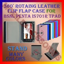 "ACM-ROTATING 360° LEATHER FLIP STAND COVER 7"" CASE for BSNL PENTA IS701R TPAD"