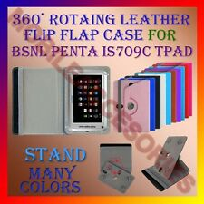 """ACM-ROTATING 360° LEATHER FLIP STAND COVER 7"""" CASE for BSNL PENTA IS709C TPAD"""