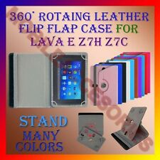 "ACM-ROTATING 360° LEATHER FLIP STAND COVER 7"" CASE for LAVA E Z7H Z7C TAB HOLDER"