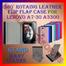 "ACM-ROTATING 360° LEATHER FLIP STAND COVER 7"" CASE for LENOVO A7-30 A3300 TABLET"