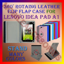 """ACM-ROTATING 360° LEATHER FLIP STAND COVER 7"""" CASE for LENOVO IDEA PAD A1 TABLET"""