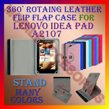 "ACM-ROTATING 360° LEATHER FLIP STAND COVER 7"" CASE for LENOVO IDEA PAD A2107 TAB"
