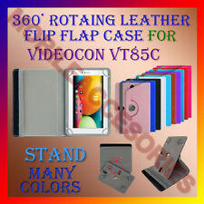 "ACM-ROTATING 360° LEATHER FLIP STAND COVER 7"" CASE for VIDEOCON VT85C TABLET TAB"