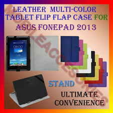 "ACM-LEATHER FLIP FLAP MULTI-COLOR 7"" COVER & STAND for ASUS FONEPAD 2013 TABLET"