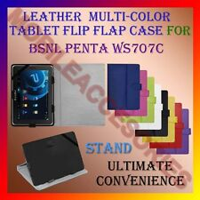 "ACM-LEATHER FLIP FLAP MULTI-COLOR 7"" COVER & STAND for BSNL PENTA WS707C TABLET"