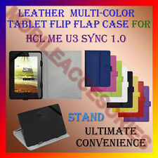 "ACM-LEATHER FLIP FLAP MULTI-COLOR 7"" COVER & STAND for HCL ME U3 SYNC 1.0 TABLET"