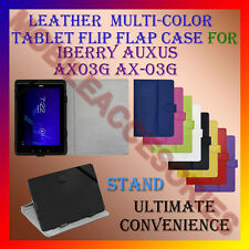 "ACM-LEATHER FLIP FLAP MULTI-COLOR 7"" COVER & STAND for IBERRY AUXUS AX03G AX-03G"