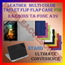 """ACM-LEATHER FLIP FLAP MULTI-COLOR 7"""" COVER & STAND for KARBONN TA-FONE A39 TAB"""