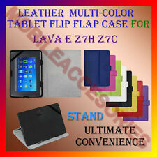 "ACM-LEATHER FLIP FLAP MULTI-COLOR 7"" COVER & STAND for LAVA E Z7H Z7C TABLET"