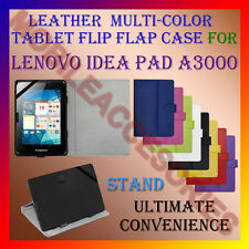 "ACM-LEATHER FLIP FLAP MULTI-COLOR 7"" COVER & STAND for LENOVO IDEA PAD A3000 TAB"