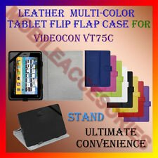 "ACM-LEATHER FLIP FLAP MULTI-COLOR 7"" COVER & STAND for VIDEOCON VT75C TAB HOLDER"