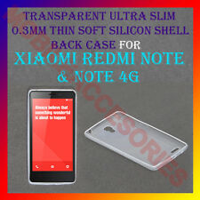 ACM-ULTRA SLIM 0.3MM TRANSPARENT SILICON XIAOMI REDMI NOTE & NOTE 4G BACK COVER