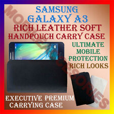 ACM-RICH LEATHER SOFT CASE for SAMSUNG GALAXY A3 MOBILE HANDPOUCH COVER POUCH