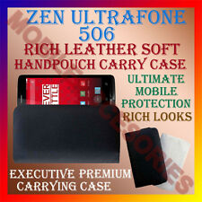 ACM-RICH LEATHER SOFT CASE for ZEN ULTRAFONE 506 MOBILE HANDPOUCH COVER HOLDER