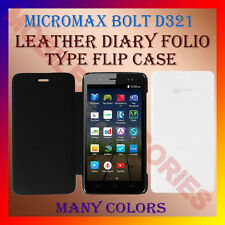 ACM-LEATHER DIARY FOLIO FLIP FLAP CASE for MICROMAX BOLT D321 MOBILE FULL COVER