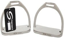 TOP QUALITY EQUESTRIAN IRONS FILLIS DRESSAGE STIRRUPS WITH WHITE TREADS RRP £30