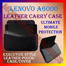 ACM-HORIZONTAL LEATHER CARRY CASE for LENOVO A6000 MOBILE POUCH COVER HOLDER