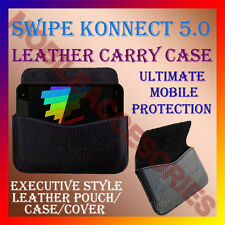 ACM-HORIZONTAL LEATHER CARRY CASE for SWIPE KONNECT 5.0 MOBILE POUCH COVER NEW