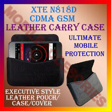 ACM-HORIZONTAL LEATHER CARRY CASE for XTE N818D CDMA GSM MOBILE RICH POUCH COVER